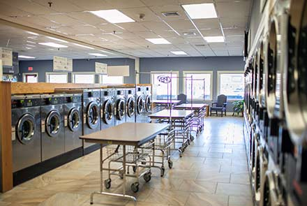 Laundromat carts and machines